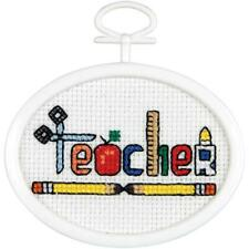 Teacher Mini Counted Cross Stitch Kit By Janlynn