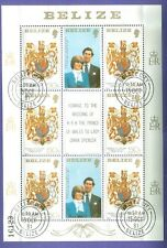 1981 BELIZE, LADY DI, BRITISH ROYAL WEDDING, RARE SOUVENIR SHEET NO. 1, NO TAX