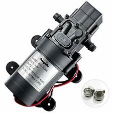 12V DC Fresh Water Pump With Hose Clamps Volt Diaphragm Self Priming Sprayer 4.5