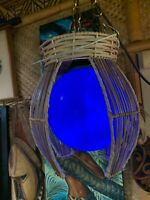 New Bamboo with Blue float Tiki Lamp by Smokin' Tikis Hawaii fx