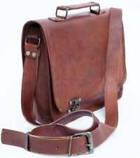 Vintage Genuine Brown Leather Handbag Purse Sling Handbag Crossbody Tote Satchel