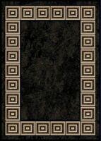 "BLACK ORIENTAL AREA RUG 2X3 MAT Persien CARPET 021 - ACTUAL 1' 7"" x 2' 9"""