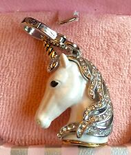 NWT 2009 JUICY COUTURE WHITE SILVER UNICORN CHARM YJRU3123
