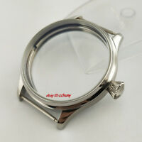 44mm stainless Steel Silver watch Case Fit ETA 6497/6498 Seagull ST36 Movement