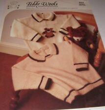 Toddler's Sweater with optional Teddy Motif ~ D.K Knitting Pattern ~ Easy Design