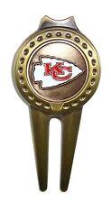 Kansas City (KC) Chiefs Divot Tool with Golf Ball Marker