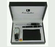 Men's New NY London wrist watch wallet pen set Christmas special present
