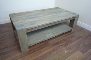 Farmhouse Coffee Table In A Rustic Style - Solid Wood - Heavy Coffee Table