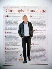 COUPURE DE PRESSE-CLIPPING : Christophe HONDELATTE 11/2016 Crime et Châtiment