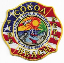 """*NEW*  Cocoa Beach  Fire Dept., Florida (4"""" x 4"""" size) fire patch"""