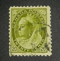 *Kengo* Canada stamp #84 Queen Victoria 20c used CV$160 @264
