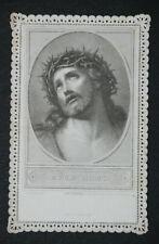 Image pieuse dentelle canivet holy card lace Ecce Homo Jésus Fin XIXème