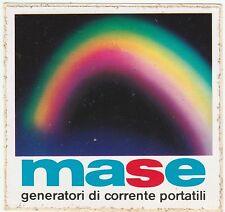 Adesivo - MASE - GENERATORI DI CORRENTE PORTATILI - Misura cm 8,5 X 8,2