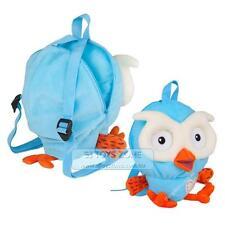 ABC Kids TV  Hoot Kids Plush Backpack  Soft Stuffed Blue Owl Day Care Travel Bag