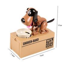 Cute Choken Bako MECHANICAL Robot Robotic Eating Dog Coin Money Bank Saving Box