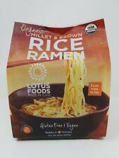 Lotus Foods Organic Millet & Brown Rice Ramen 12 Pack 30 Oz. Gluten Free/ Vegan