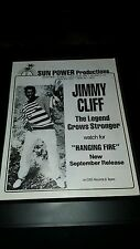 Jimmy Cliff Hanging Fire Rare Original Promo Poster Ad Framed!