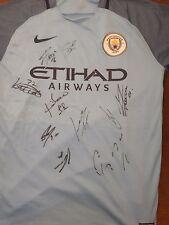 Manchester City 2016/2017 Squad Signed shirt - Aguero De Bruyne Jesus etc