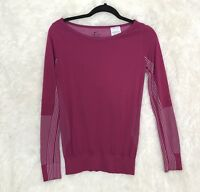 Womens Nike Dri-Fit Long Sleeve Top sz XS Bright Pink Performance