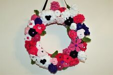 Handmade Occasion / Christmas Wreath. Pinks and Purples, unique piece of art.