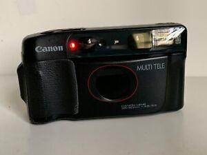 Canon Sure shot Multi Tele Half Frame & Full Frame Auto 35mm Camera Working