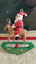 Carlton Cards Heirloom 1990 Up On The Roof Top Santa Reindeer Christmas Ornament