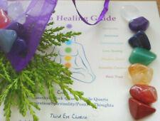 Chakra Healing Crystals small 7 Reiki Chakra Stones Gift Bag Starter Set