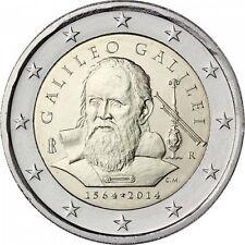 2 EURO COMMEMORATIVA ITALIA 2014 ANNIVERSARIO GALILEO GALILEI MOLTO RARA