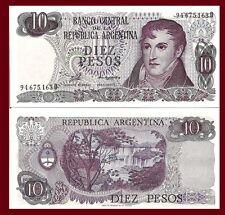 Argentina P300. 10 Pesos, General Belgrano / Iguazu fallss, Misiones, UNC 1976