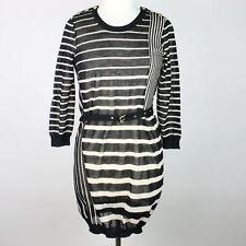 3.1 PHILLIP LIM Belted Open Back Sheer Stretch Knit Dress 6