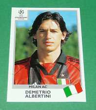 N°299 ALBERTINI MILAN AC ITALIA PANINI FOOTBALL CHAMPIONS LEAGUE 1999-2000