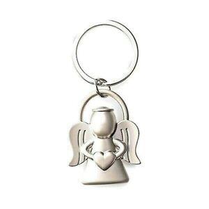 Schlüsselanhänger Engel Herz Edelstahl Schutzengel Angel