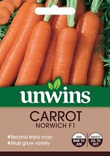 Unwins Pictorial Packet - Carrot Norwich F1 - 300 Seeds