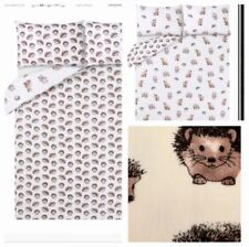 Hedgehog Duvet Quilt Cover Size DOUBLE Reversible Cotton Bedding