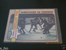 1972 73 OPC O Pee Chee #149 Orland Kurtenbach Vancouver vs. Toronto NHL Action