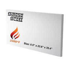 Ceramic Fiber Insulation Board 2300f 12 X 236 X 354 Thermal Insulation