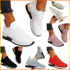 Women's Solid Running Sneakers Trainers Sports Gym Tennis Walking Shoes Size