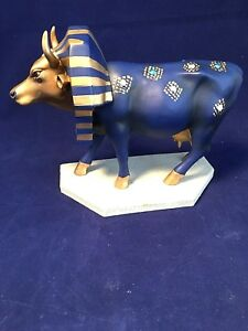 Cow Parade Tutancowmon with Head Dress Chicago NY 2000 Collectible Cow Figure