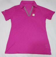 NEW Antigua Womens Jubilee Desert Dry Golf Polo Shirt Pink Size M Medium