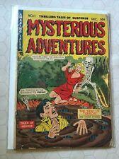 Mysterious Adventures dec 11 LN classic skeleton cover PCH 1952 rare key comic!