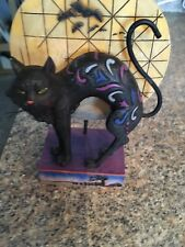 "2008 Jim Shore Halloween "" Bad Luck"" Cat/ Moon Figure- Heartwood Creek- Pre-owne"