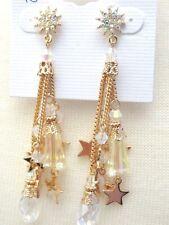 KIRKS FOLLY GOLD STAR CRYSTAL EARRINGS