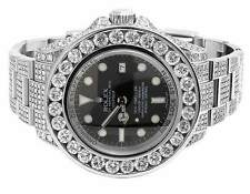 Mens Rolex Deepsea Sea Dwelller Oyster 46MM 116660 Diamond Watch 27.85 Ct