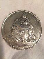 1964 Towle Pieta Sterling Silver New York Worlds Fair Vatican Medallion Ornament