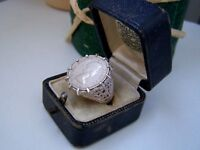 VINTAGE STERLING SILVER ELIZABETH II SIXPENCE 1960 COIN SIGNET RING SIZE O US 7
