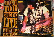 RONNIE WOOD Slide On Live, promotional poster, 1993, 17x22, VG+, Rolling Stones