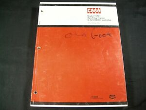 CASE Model 1270 Agri King Tractor Parts Manual Book Catalog List