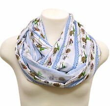 Sloth infinity scarf white shawls birthday gift for her girlfriend wife spring