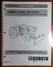 Kubota L307 Dozer for L185 L295 Tractor Owner Operator & Parts Manual M307 12/78