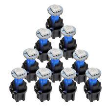 10XT5 Blue Twist Socket Instrument Panel Cluster Dash Led Lights Bulbs 17 73 74